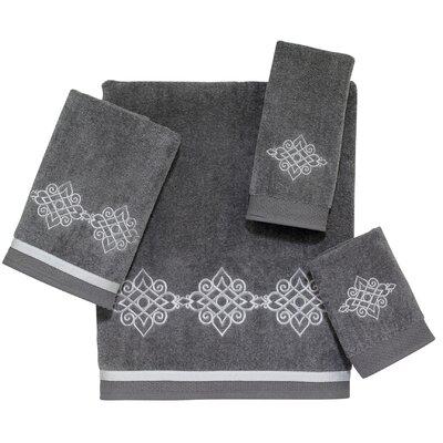 Riverview 4 Piece Towel Set Color: Nickel