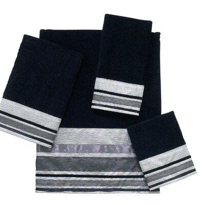 Geneva 4 Piece Towel Set Color: Silver