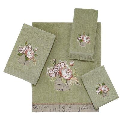 Antique Bouquet 4 Piece Towel Set Color: Sage
