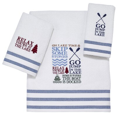 Lake Words 3 Piece Towel Set