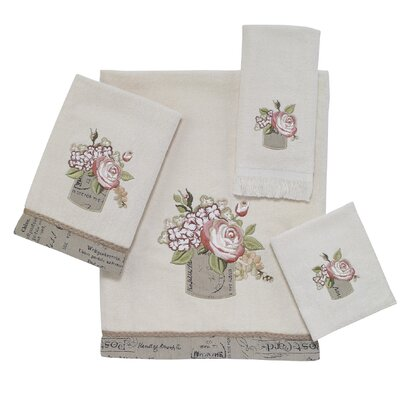 Antique Bouquet 4 Piece Towel Set Color: Ivory