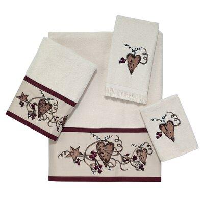 Hearts & Stars 4 Piece Towel Set