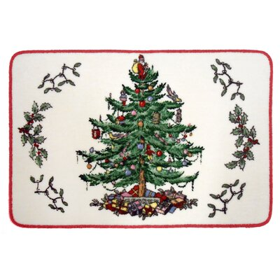 Tree Cotton Red Area Rug