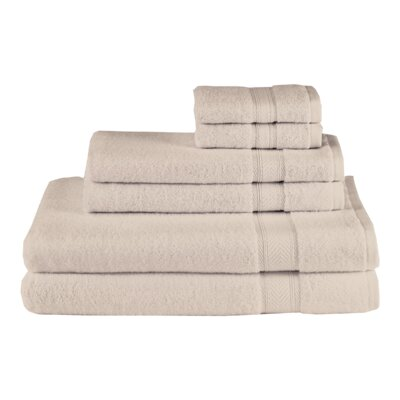 Schmitt Solid 6 Piece Towel Set Color: Sand