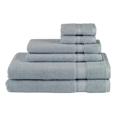 Solid 6 Piece Towel Set Color: Surf Blue