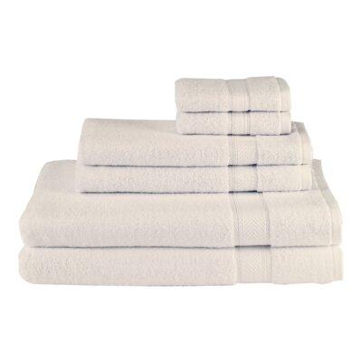 Solid 6 Piece Towel Set Color: Vanilla