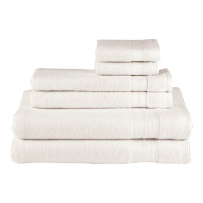 Solid 6 Piece Cotton Towel Set Color: Parchment