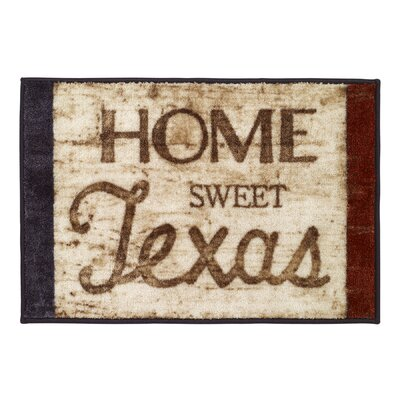 Baltrip Home Sweet Texas Bath Rug