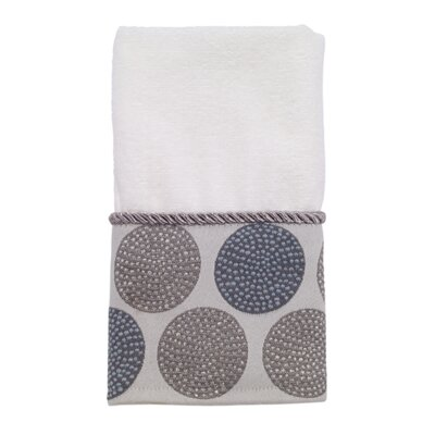 Dotted Circles Fingertip Towel Color: White