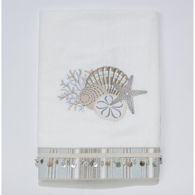 By the Sea Bath Towel Color: White