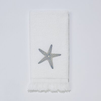 By the Sea Fingertip Towel Color: White