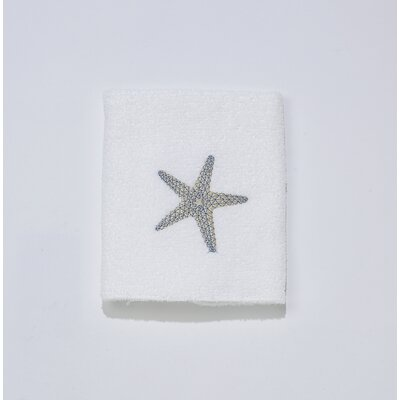 By the Sea Washcloth Color: White