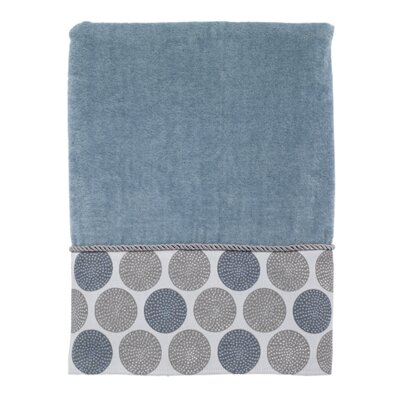 Greenberg Dotted Circles Bath Towel Color: Mineral