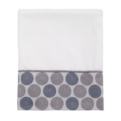 Greenberg Dotted Circles Bath Towel Color: White