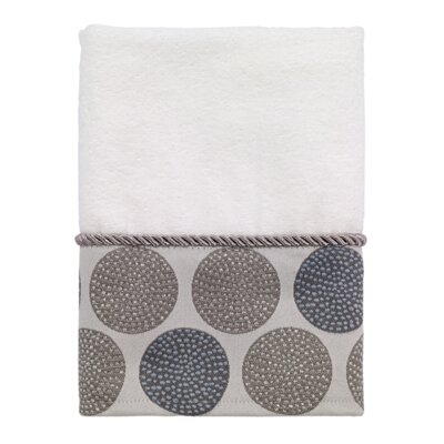 Greenough Dotted Circles Hand Towel Color: White