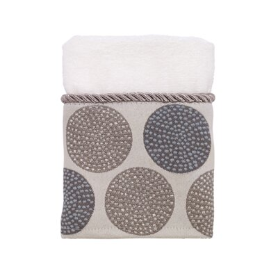 Greenpoint Dotted Circles Washcloth Color: White