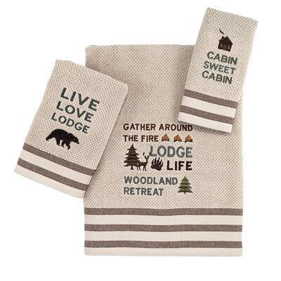 Cabin Words 3 Piece Towel Set