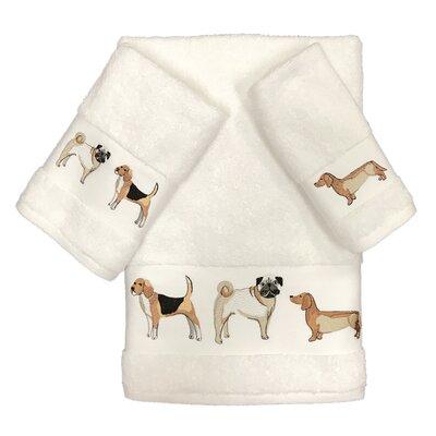 Zindell Dogs 3 Piece Towel Set