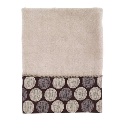 Greenberg Dotted Circles Bath Towel Color: Linen/Mocha