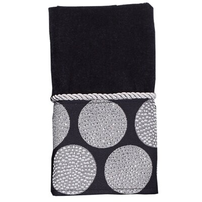 Dotted Circles Fingertip Towel Color: Black