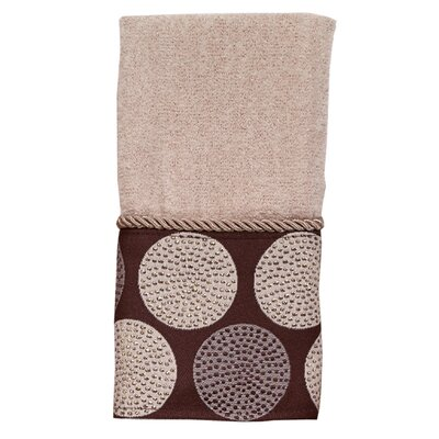 Dotted Circles Fingertip Towel Color: Linen/Mocha