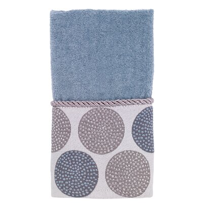 Dotted Circles Fingertip Towel Color: Mineral