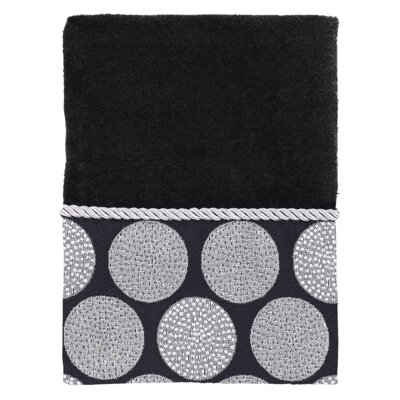 Greenough Dotted Circles Hand Towel Color: Black
