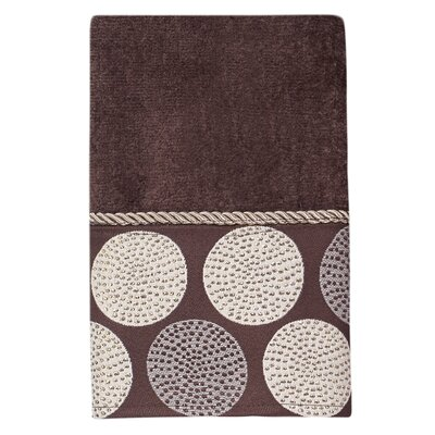 Greenough Dotted Circles Hand Towel Color: Linen/Mocha