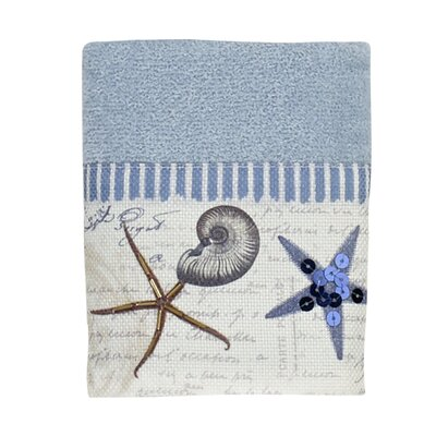 Antigua Washcloth Color: Blue Fog
