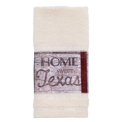 Genevieve Home Sweet Texas Fingertip Towel