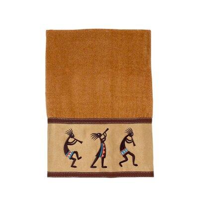 Kokopelli Bath Towel Color: Nutmeg