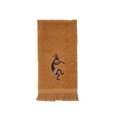 Kokopelli Fingertip Towel Color: Nutmeg