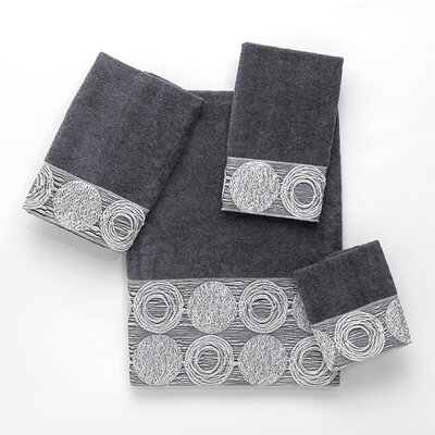 Galaxy 4 Piece Towel Set Color: Granite
