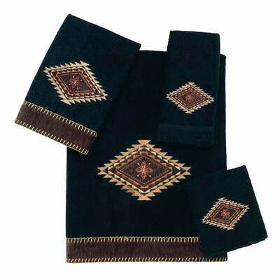 Mojave 4 Piece Towel Set Color: Black