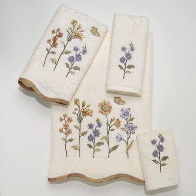 Avanti Linens Premier Country Floral 4 Piece Towel Set - Color: Ivory at Sears.com