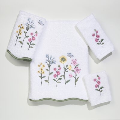 Avanti Linens Premier Country Floral 4 Piece Towel Set - Color: White at Sears.com