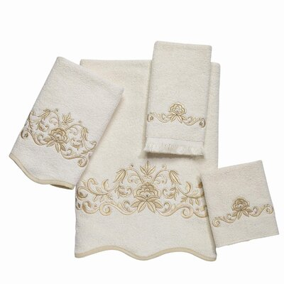 Avanti Linens Premier Venetian Scroll Scallop 4 Piece Towel Set at Sears.com