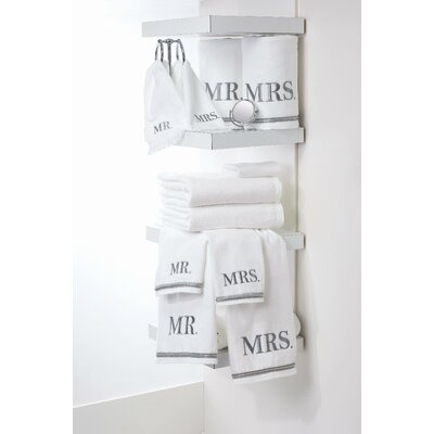 Mr. and Mrs. 6 Piece Towel Set