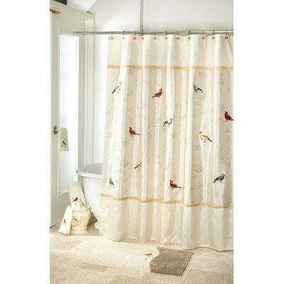 Gilded Birds Shower Curtain