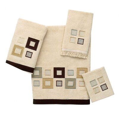 Metropolis 4 Piece Towel Set Color: Linen