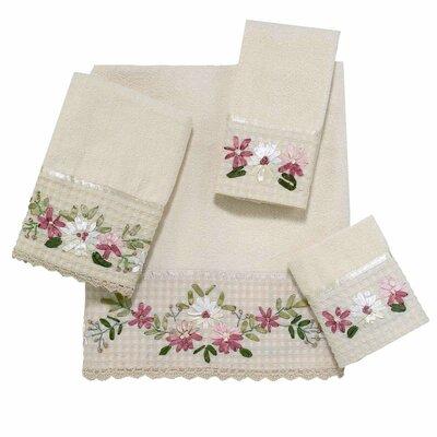 Victoria 4 Piece Towel Set Color: Ivory