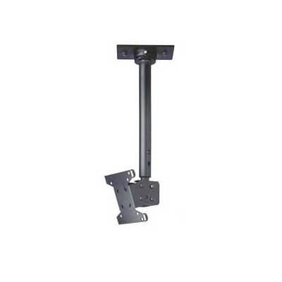 Peerless TV and Projector Tilt/Swivel Ceiling Mount for 13 - 29 LCD Cable Management Covers: Not Included, Finish: Black