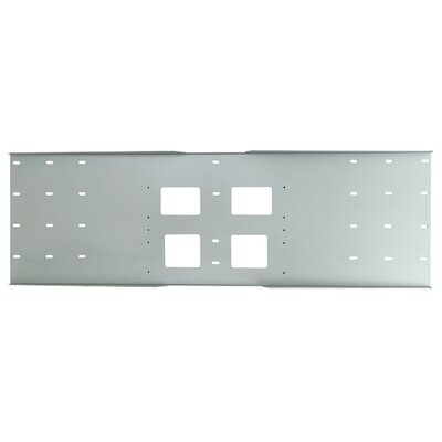 Stud Wall Plate for PLA Series Stud Size: 24, Color: Gloss Black