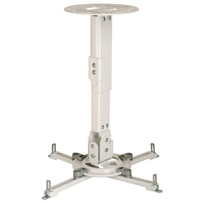Paramount Universal Ceiling Projector Mount Finish: White, Adjustable Drop Range: 12.75 to 17.78 (PPA)