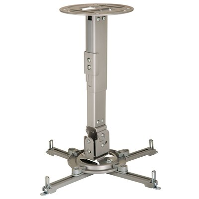 Paramount Universal Ceiling Projector Mount Adjustable Drop Range: 12.75 to 17.78 (PPA), Finish: Silver