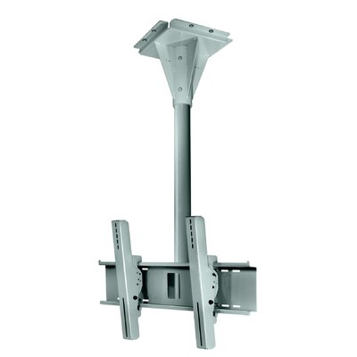 Wind Rated Concrete Tilt/Swivel Universal Ceiling Mount for 32 - 65 Screens Finish: Silver