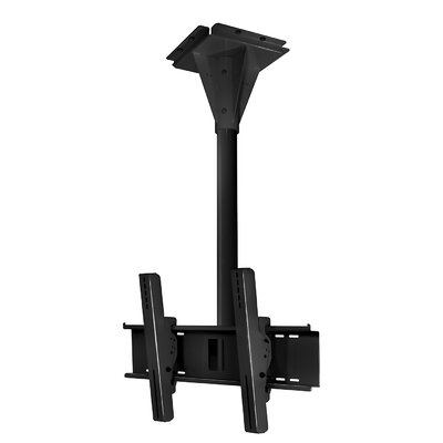 Wind Rated I-beam Tilt/Swivel Universal Ceiling Mount for 32 - 65 Flat Panel Screens Finish: Black