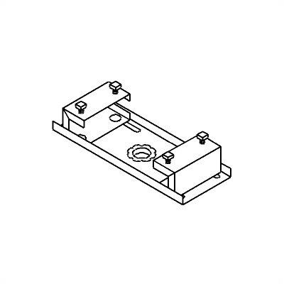 Peerless TV and Projector Ceiling Mounts and Parts I-Beam Clamp Size: Small (ACC 558)