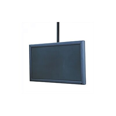 Flat Panel Straight Column Tilt Universal Ceiling Mount for 32 - 60 Flat Panel Screens Finish: Black