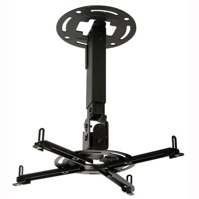 Paramount Universal Ceiling Projector Mount Adjustable Drop Range: 12.75 to 17.78 (PPA), Finish: Black